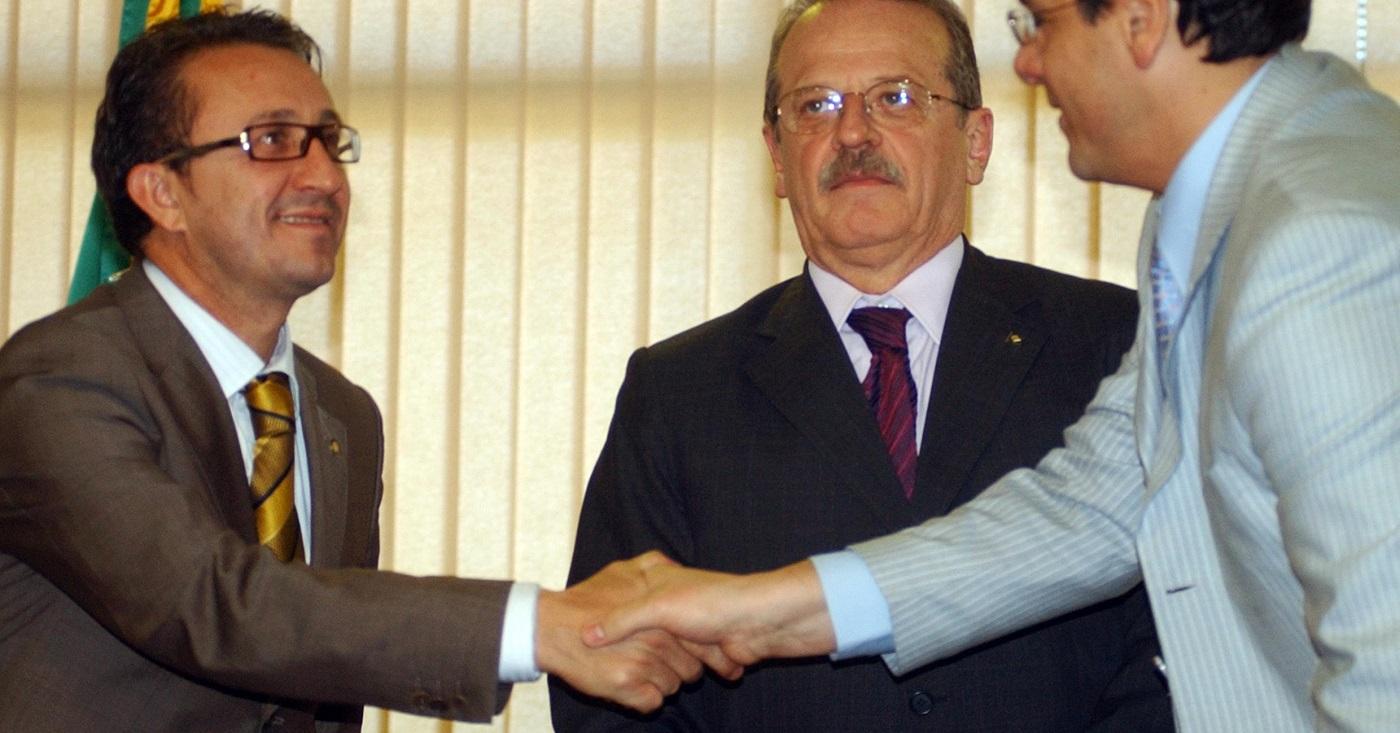 Rogério Favreto com Tarso Genro em foto de 2008: mesmo sem soltar Lula, ação de desembargador reforça uma narrativa. Foto: Fábio Rodrigues Pozzebom/ABr
