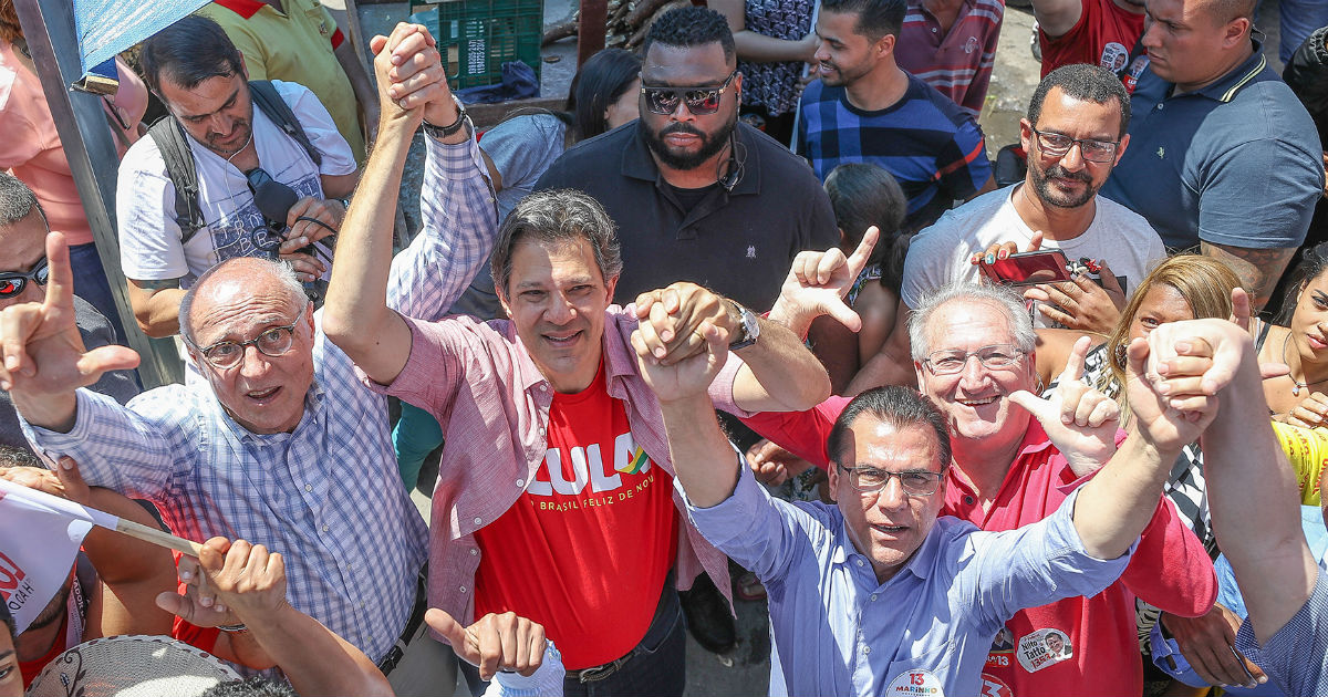 Até o início de setembro, as simulações de segundo turno mostravam Bolsonaro como a melhor chance de o PT voltar à Presidência. Foto: Ricardo Stuckert