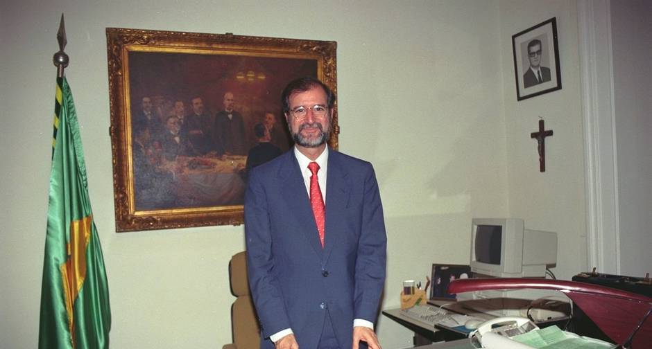 Eduardo Azeredo no Palácio da Liberdade em 1995: virada incrível na eleição. Foto: Geovani Pereira/Agência O Globo