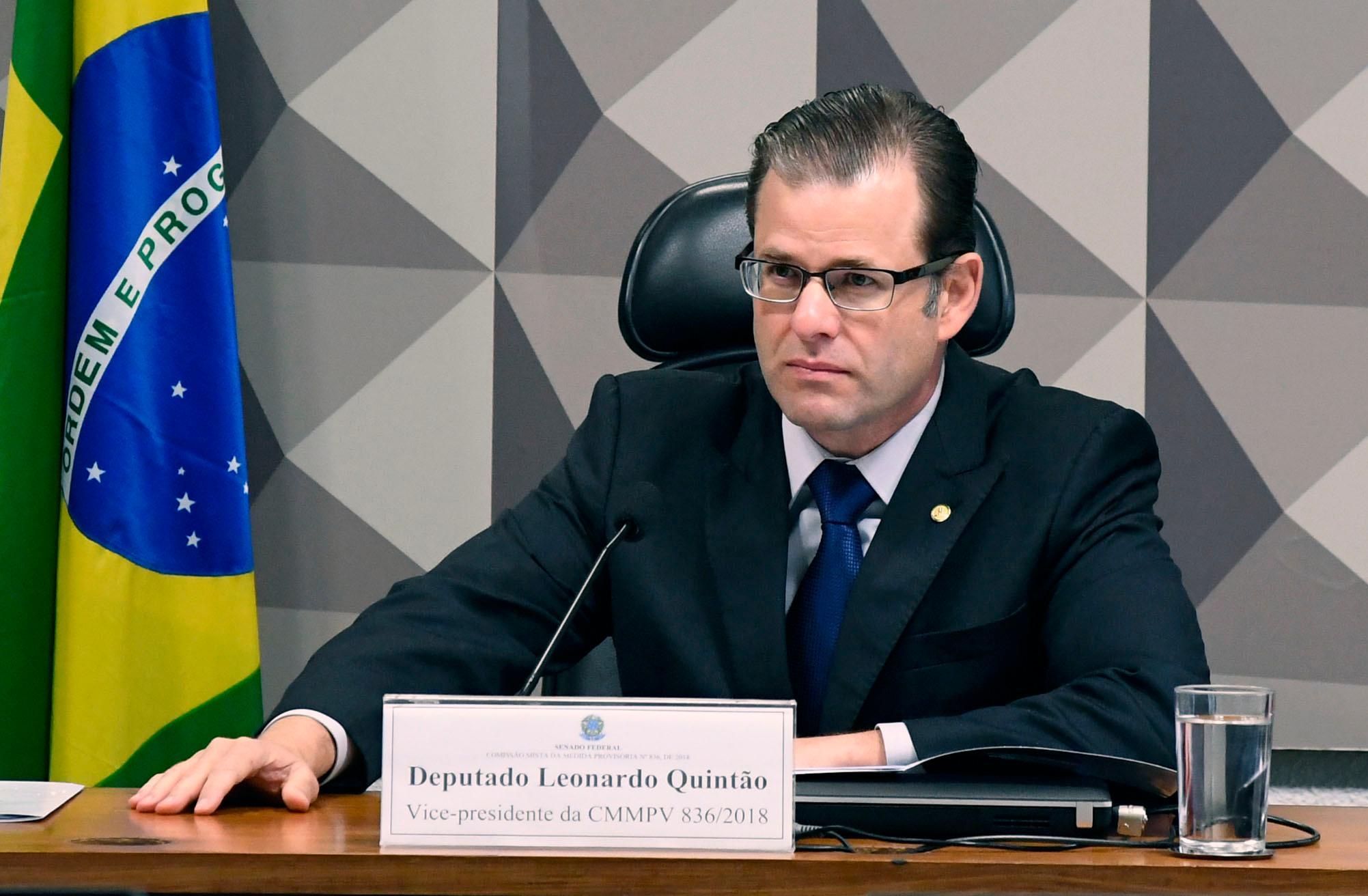 Leonardo Quintão: projeto de lei redigido com ajuda de advogado de mineradoras. Foto: Vinicius Loures/Câmara dos Deputados