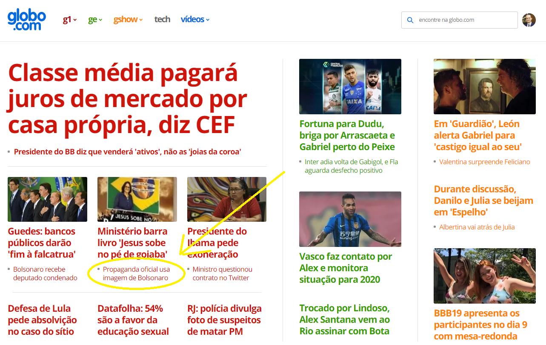 'A Agência' na globo.com: noticiar é preciso. Imagem: Reprodução/globo.com