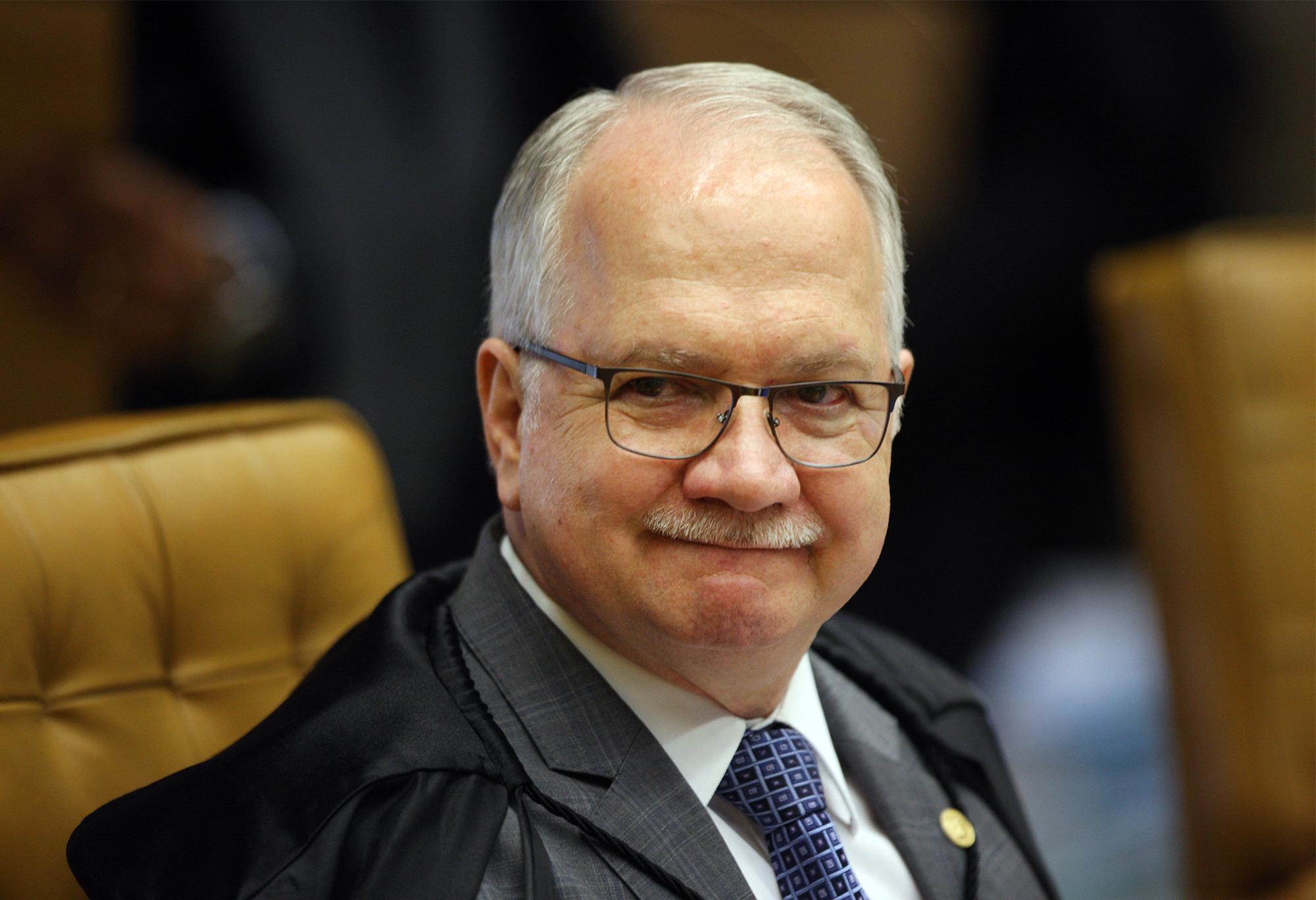 O ministro Edson Fachin: toca o habeas corpus pro pai. Foto: Nelson Jr./SCO/STF