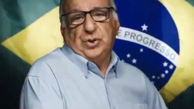 O ator Paulo Amaral no vídeo pró-golpe: produtor misterioso. Foto: Reprodução/?